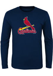 St Louis Cardinals Boys Navy Blue Primary T-Shirt