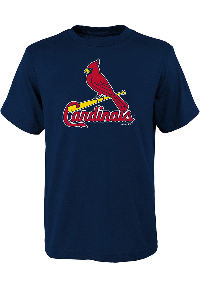 St Louis Cardinals Youth Navy Blue Primary Short Sleeve T-Shirt - Image 1