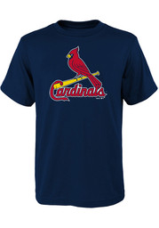St Louis Cardinals Youth Navy Blue Primary T-Shirt