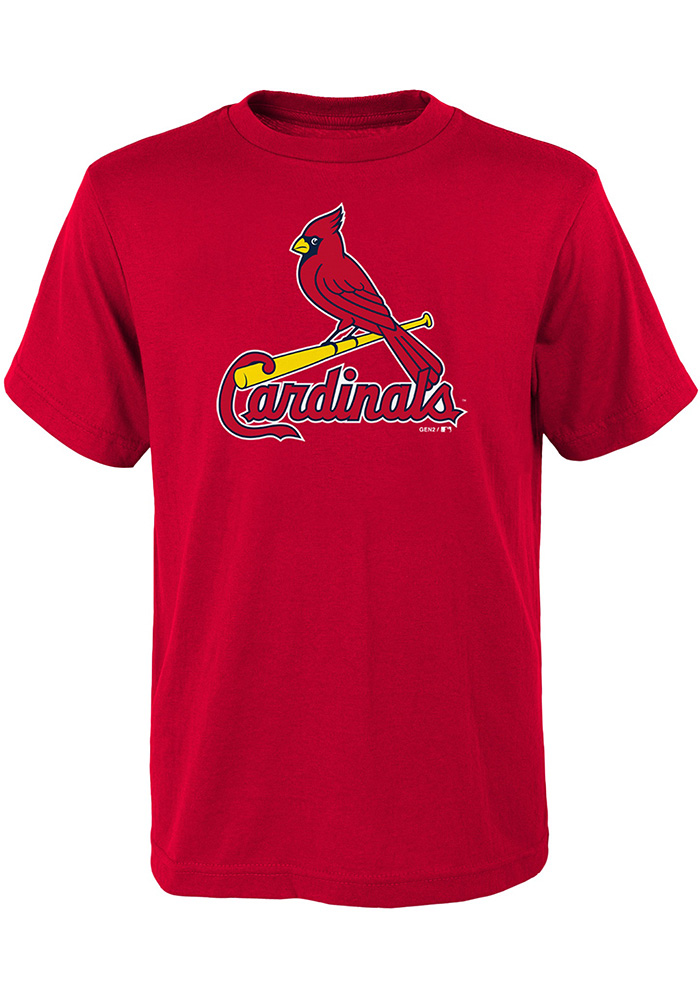St Louis Cardinals Youth Red Primary Short Sleeve T-Shirt - Image 1