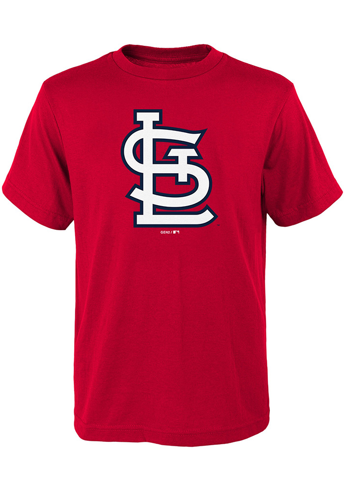 St Louis Cardinals Youth Red Secondary Short Sleeve T-Shirt - Image 1