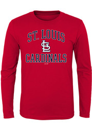 St Louis Cardinals Youth Red #1 Design T-Shirt