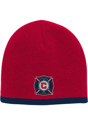 Chicago Fire Red Uncuffed Baby Knit Hat