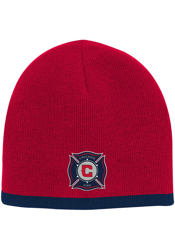 Chicago Fire Uncuffed Baby Knit Hat - Red - Image 1