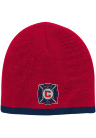 Chicago Fire Baby Uncuffed Knit Hat - Red