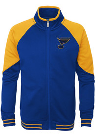 St Louis Blues Youth Navy Blue Faceoff Full Zip Jacket