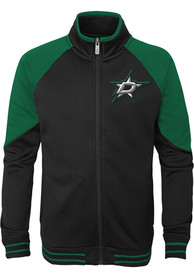 Dallas Stars Youth Black Faceoff Full Zip Jacket