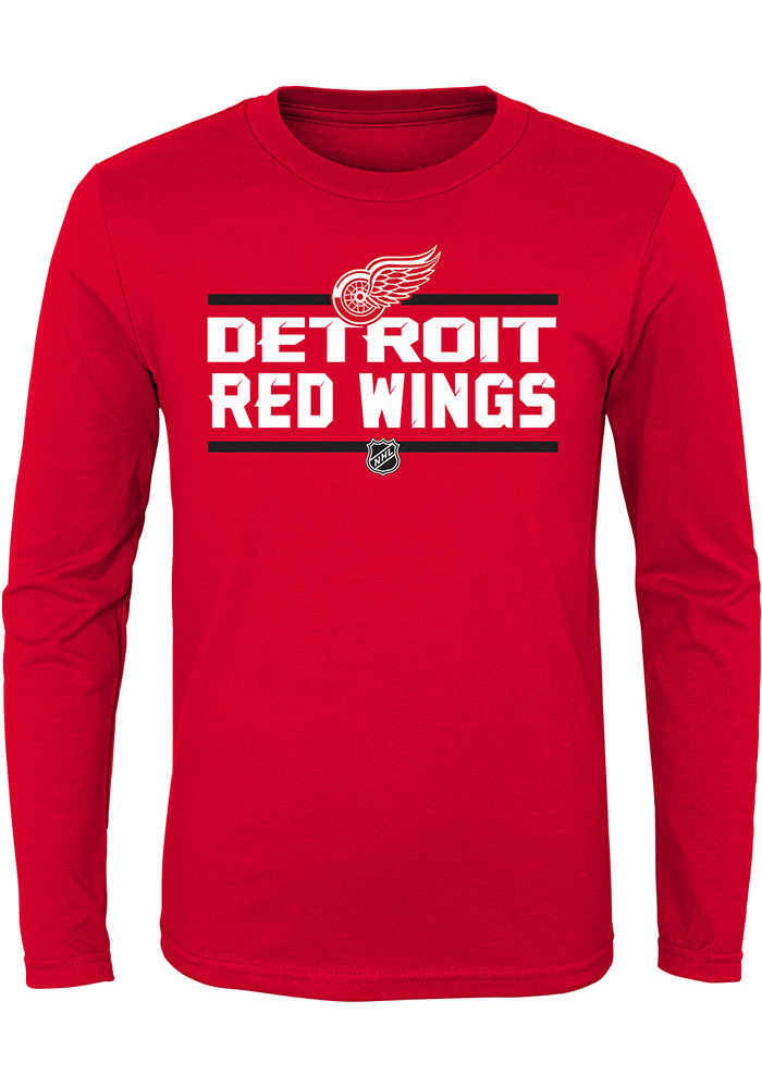Detroit Red Wings Youth Red Epitome Long Sleeve T-Shirt - Image 1