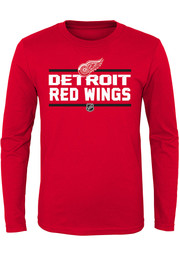 Detroit Red Wings Youth Red Epitome Long Sleeve T-Shirt