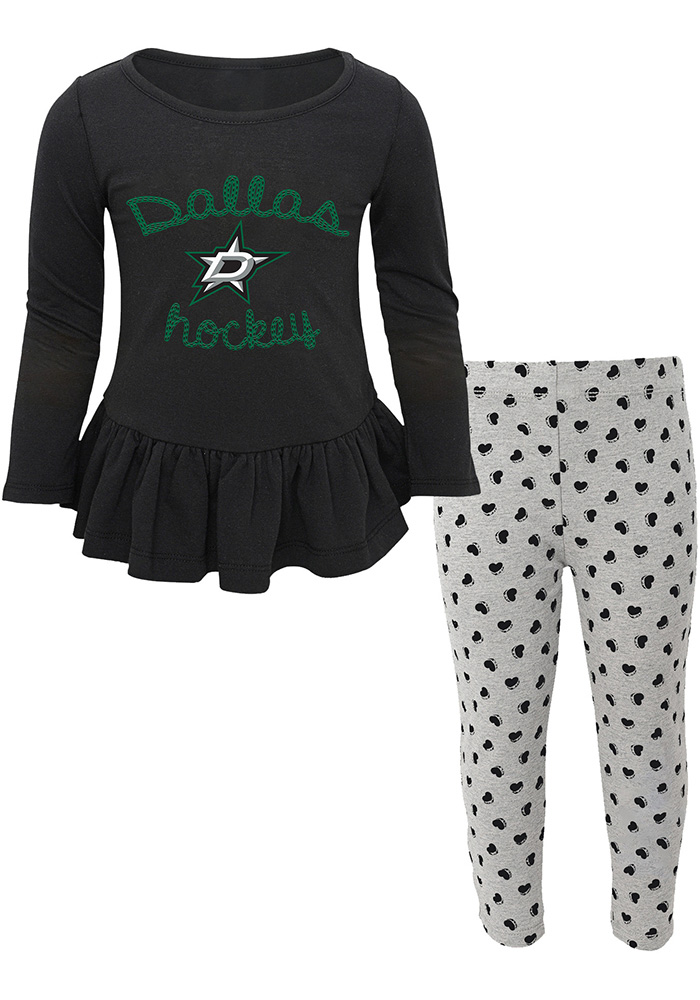 Dallas Stars Toddler Girls Black Puck Drop Cheer  sc 1 st  Rally House & Shop Dallas Stars Halloween Costumes
