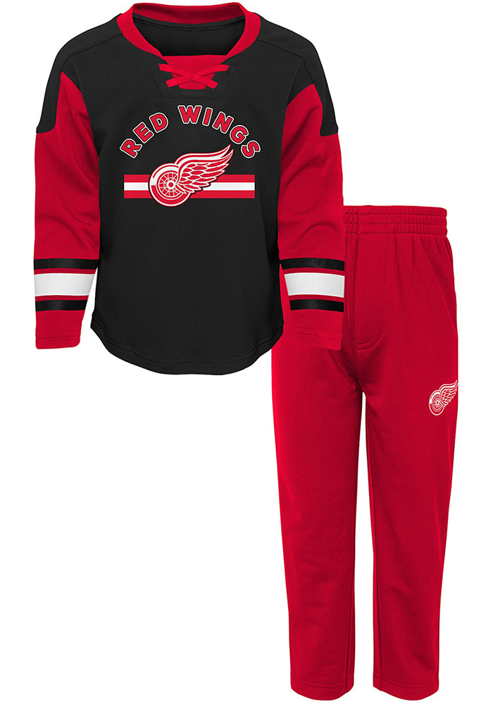 Detroit Red Wings Toddler Rink Rat Top and Bottom - Red
