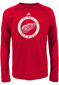 Detroit Red Wings Youth Red Practice Graphic T-Shirt