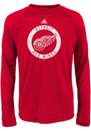 Detroit Red Wings Youth Red Practice Graphic Long Sleeve T-Shirt