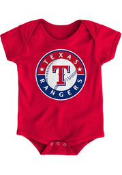 Texas Rangers Baby Red Primary One Piece