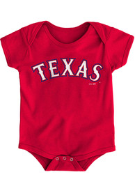 Texas Rangers Baby Red Road Wordmark One Piece