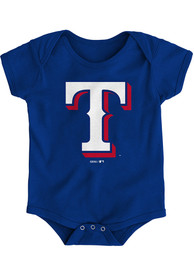 Texas Rangers Baby Blue Secondary One Piece