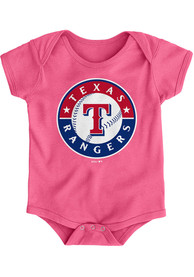 Texas Rangers Baby Pink Primary One Piece