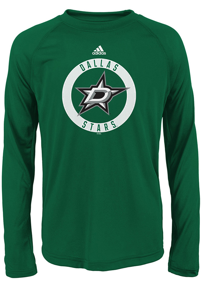 Dallas Stars Youth Green Practice Graphic Long Sleeve T-Shirt - Image 1