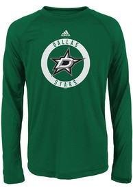Dallas Stars Youth Green Practice Graphic T-Shirt