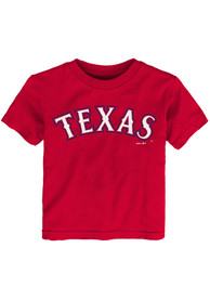 Texas Rangers Toddler Red Road Wordmark T-Shirt