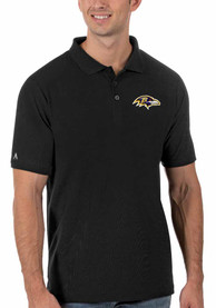 Baltimore Ravens Antigua Legacy Pique Polo Shirt - Black