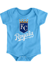 Kansas City Royals Baby Light Blue Primary One Piece