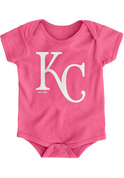 Kansas City Royals Baby Pink Official Logo One Piece