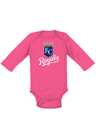 Kansas City Royals Baby Pink Primary LS One Piece