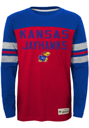 Kansas Jayhawks Boys Red Legacy Tee