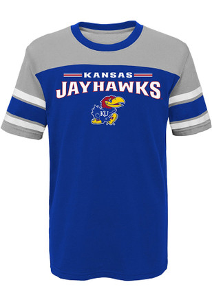 Kansas Jayhawks Boys Blue Loyalty Fashion Tee