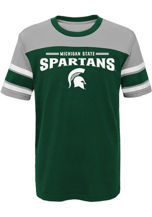 Michigan State Spartans Boys Green Loyalty Fashion Tee