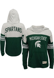 Michigan State Spartans Girls Green Monument Long Sleeve T-shirt