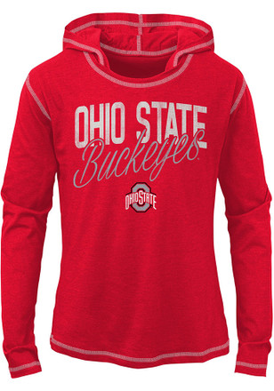 Ohio State Buckeyes Girls Red Glory Days Long Sleeve T-shirt