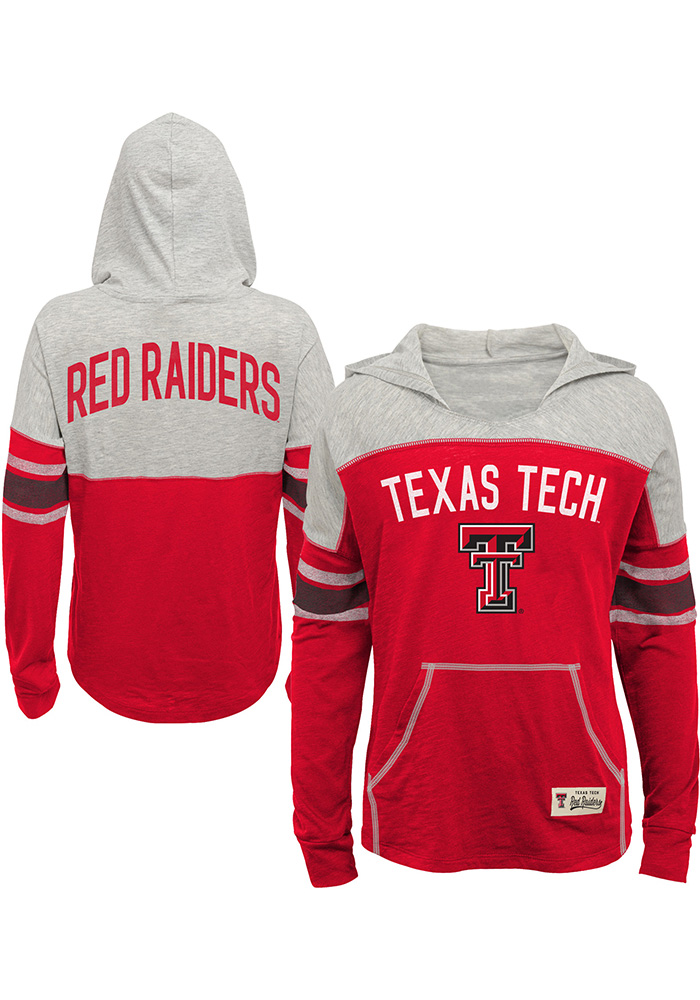 Texas Tech Red Raiders Girls Red Monument Long Sleeve T-shirt - Image 1