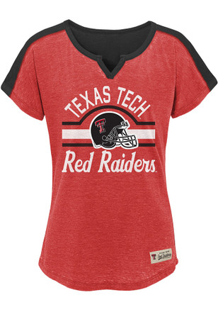 Texas Tech Red Raiders Girls Red Tribute Fashion T-Shirt