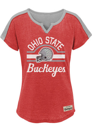 Ohio State Buckeyes Girls Red Tribute Fashion T-Shirt