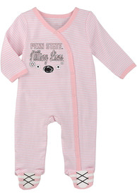 Penn State Nittany Lions Baby 2nd Half One Piece Pajamas - Pink
