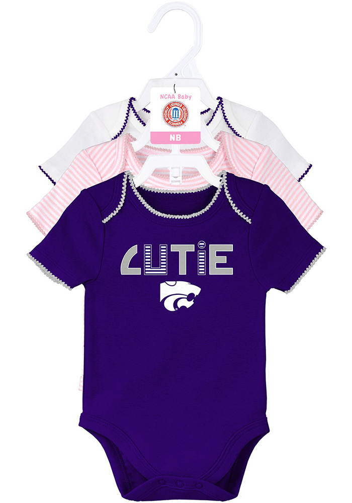 K-State Wildcats Baby Purple 3rd Quarter Set One Piece - Image 1