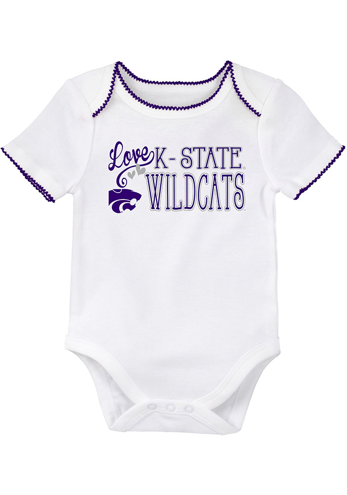 K-State Wildcats Baby Purple 3rd Quarter Set One Piece - Image 3