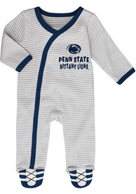 Penn State Nittany Lions Baby Sunday Best Navy Blue Sunday Best One Piece Pajamas