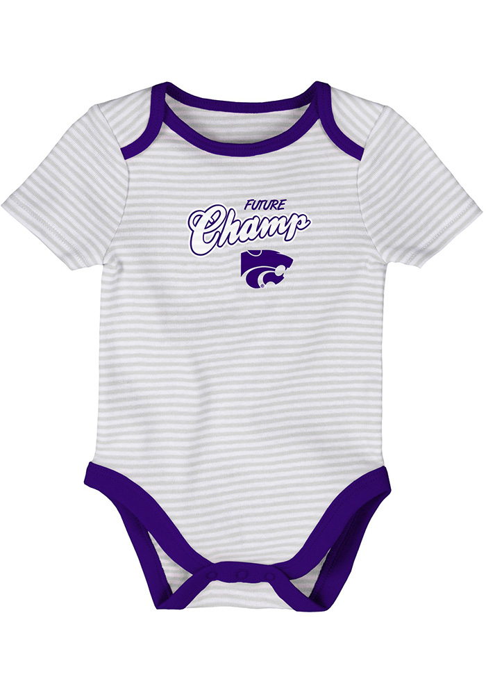 K-State Wildcats Baby Purple 3rd Down One Piece - Image 2