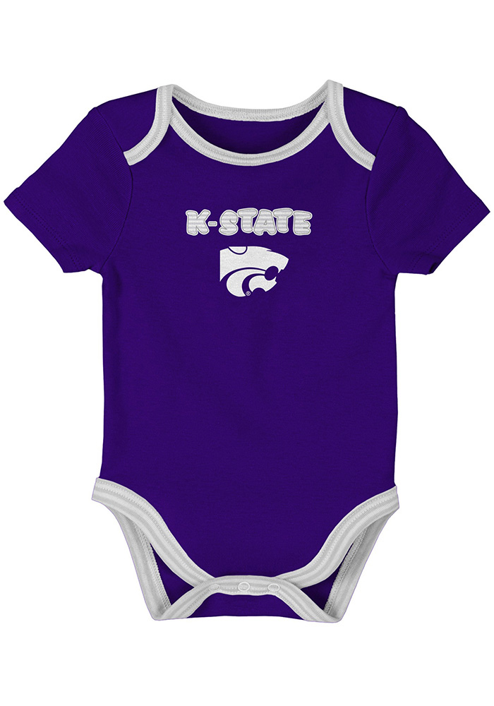 K-State Wildcats Baby Purple 3rd Down One Piece - Image 3