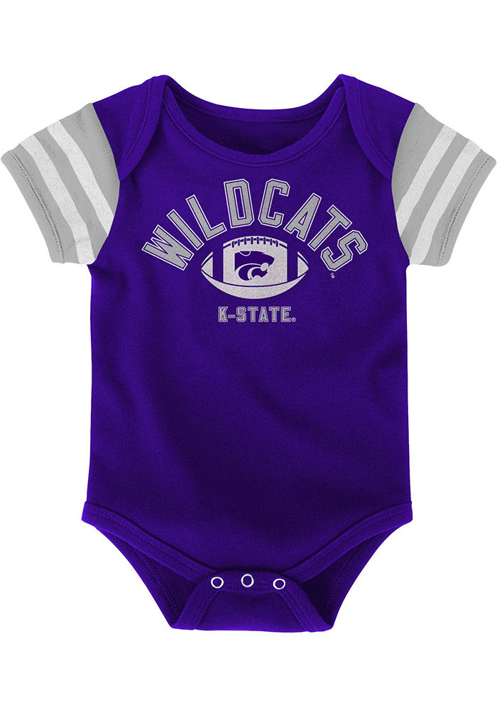 K-State Wildcats Baby Purple Vintage One Piece - Image 2