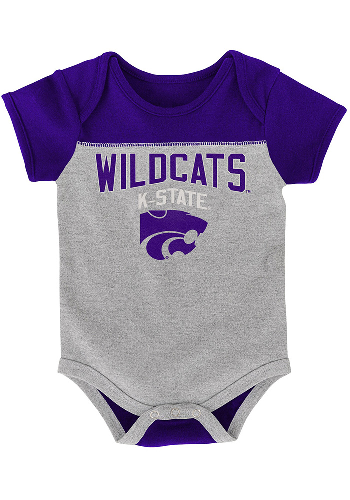 K-State Wildcats Baby Purple Vintage One Piece - Image 3