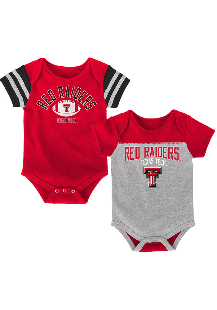 Texas Tech Red Raiders Baby Red Vintage One Piece - Image 1