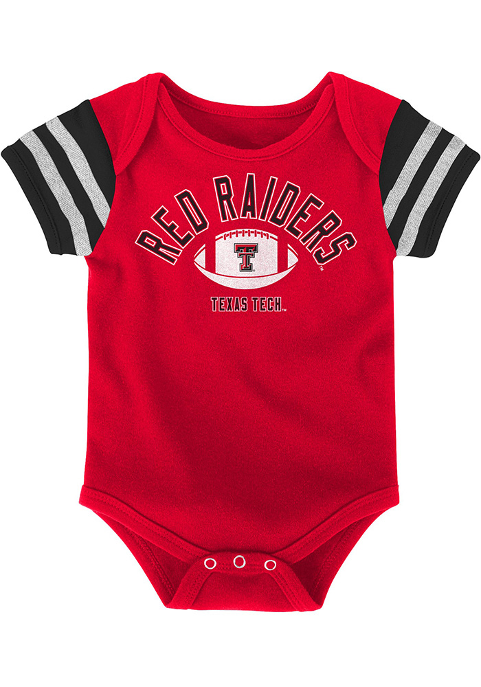 Texas Tech Red Raiders Baby Red Vintage One Piece - Image 2