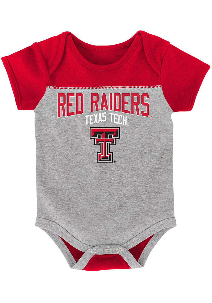 Texas Tech Red Raiders Baby Red Vintage One Piece - Image 3