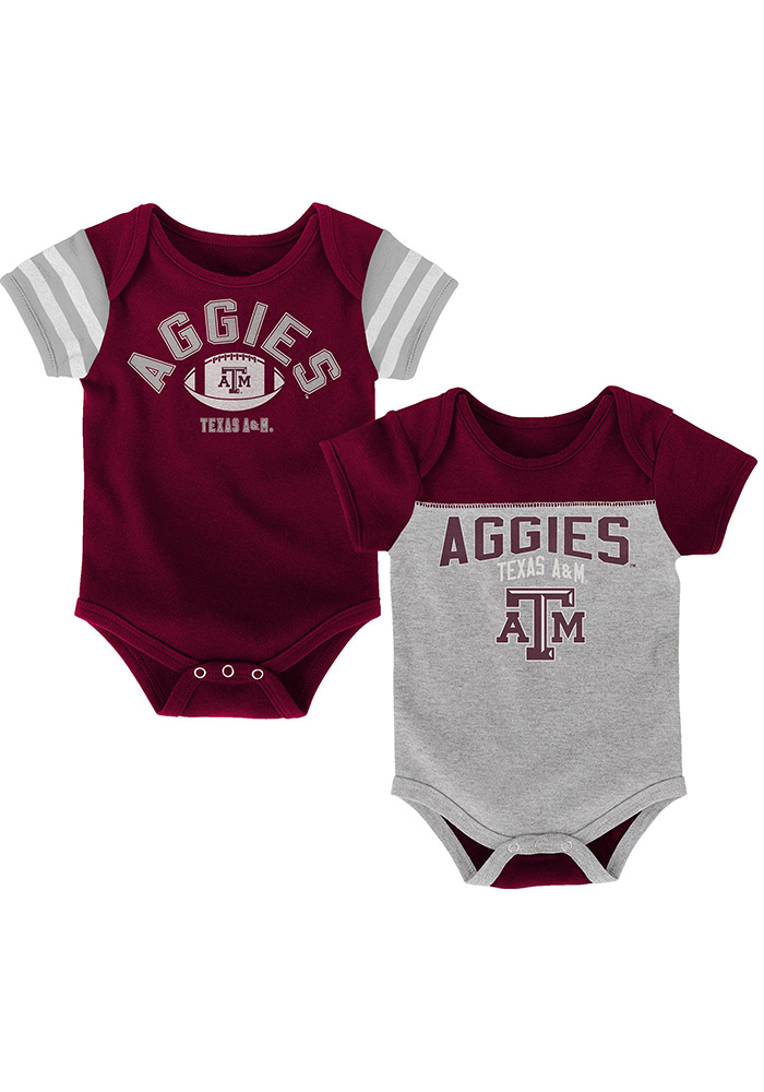 Texas A&M Aggies Baby Maroon Vintage One Piece - Image 1