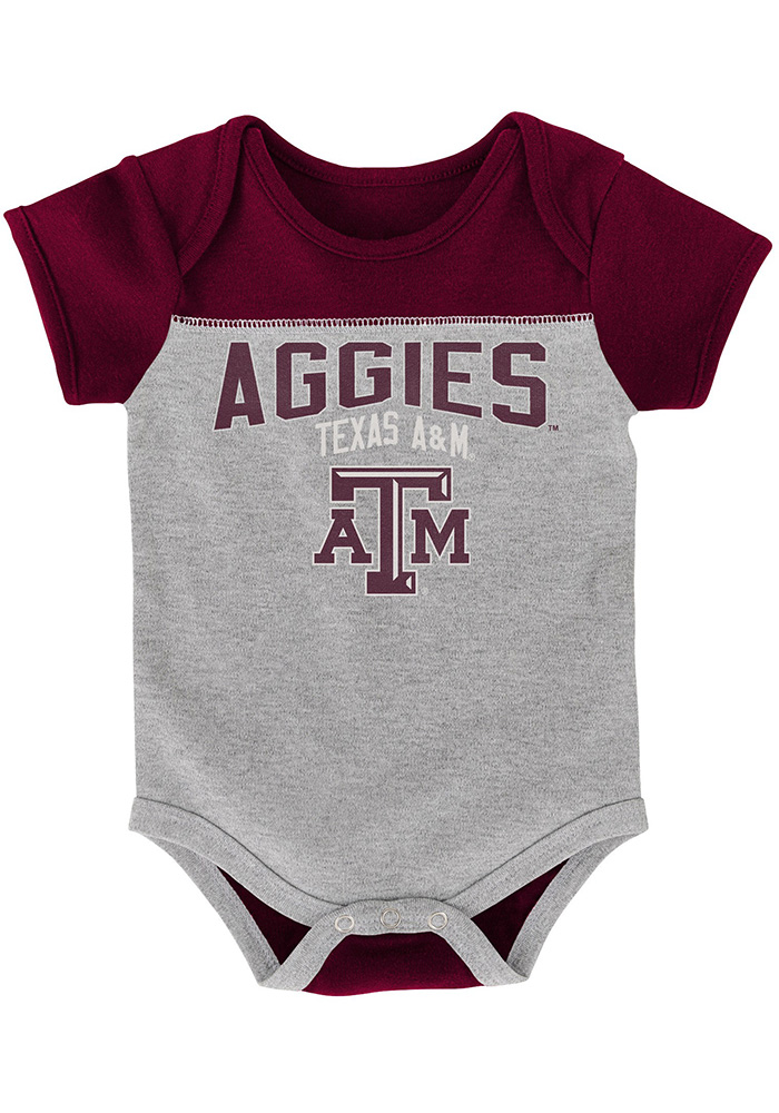 Texas A&M Aggies Baby Maroon Vintage One Piece - Image 2
