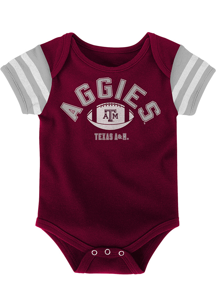 Texas A&M Aggies Baby Maroon Vintage One Piece - Image 3